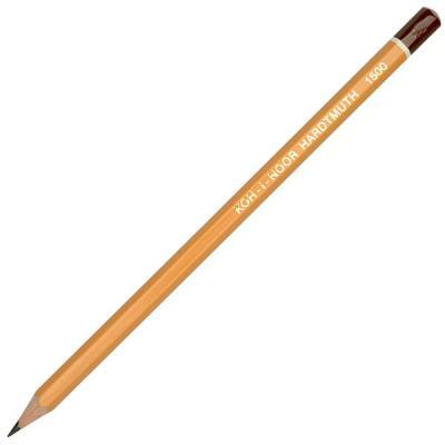 Карандаш чернографитный Koh-i-Noor 1500 6B деревянный лакированный корпус 1500 6B стоимость
