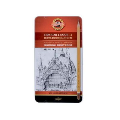Карандаши чернографитные Koh-i-Noor Art 8B-2H 12 шт 17.5 см 1502/II 08PL 1502/II 08PL