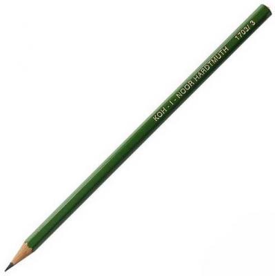 Карандаш чернографитный Koh-i-Noor Alpha 1703/03 зеленый лакированный корпус 1703/03 карандаш чернографитный koh i noor microkosmos 1231 36007 1231 36007