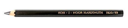 Карандаш чернографитный Koh-i-Noor Jumbo 1820 8B деревянный лакированный корпус 1820 8B