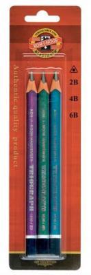 Карандаши чернографитные Koh-i-Noor Triograph 3 шт 1835 1835 академия групп чернографитные карандаши минни маус трехгранные 3 шт
