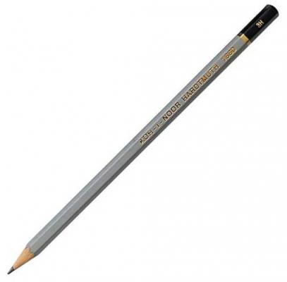 Карандаш чернографитный Koh-i-Noor Gold Star 1860/3H серый лакированный корпус 1860/3H