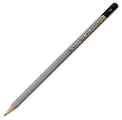 Карандаш чернографитный Koh-i-Noor Gold Star 1860/4H серый лакированный корпус 1860/4H