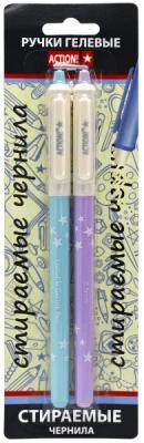 Гелевая ручка стираемая Action! AGP302/E/BK 2 шт черный 0.5 мм  AGP302/E/BK