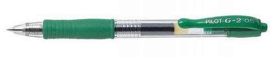 Гелевая ручка автоматическая Pilot G2-5 зеленый 0.5 мм BL-G2-5-G BL-G2-5-G