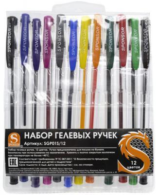 Набор гелевых ручек SPONSOR SGP01S/12 12 шт разноцветный  SGP01S/12