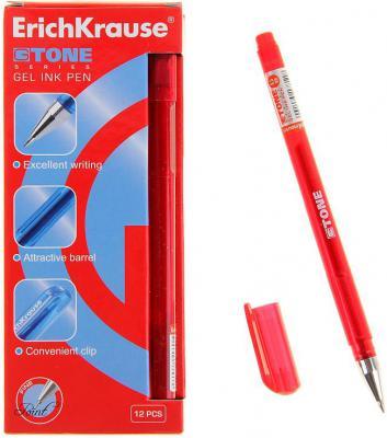 Гелевая ручка Erich Krause G-Tone красный 0.5 мм 17811 17811 erich krause ручка гелевая g tone 12 шт erich krause черный цвет