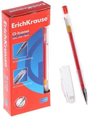 Гелевая ручка Erich Krause G-Base красный 0.5 мм 30937 erich krause рюкзак школьный альянс мстители multi pack mini