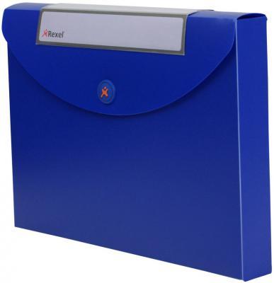 Папка Rexel Optima A4 40мм для документов пластик синий 2102482