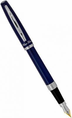 Перьевая ручка Flavio Ferrucci Prestigio лакированный корпус, хромированные детали FF-FP8032 ручка перьевая moderno матовый серебристо кремовый корпус хромированные детали синие м