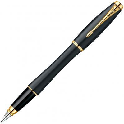 Перьевая ручка Parker Urban Muted Black GT с позолоченными деталями, перо F S0850640 PARKER-S0850640