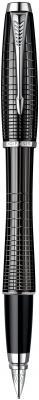 Перьевая ручка Parker Urban Premium Ebony Metal Chiselled синий хромированные детали, перо F S0911480 PARKER-S0911480