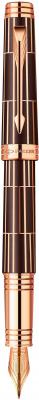 Перьевая ручка Parker Premier Luxury F565 Brown PGT черный позолоченные детали, перо F S1876376 PARKER-S1876376