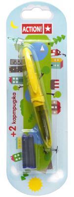 Перьевая ручка Action! AFP1037 синий +2 картриджа
