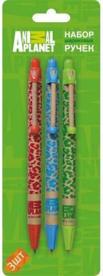 Набор шариковых ручек автоматическая Action! Animal Planet 3 шт AP-ABP151/3 AP-ABP151/3 цена и фото