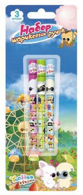 Набор шариковых ручек Action! Yoohoo 3 шт YH-ABP151/3 цена и фото
