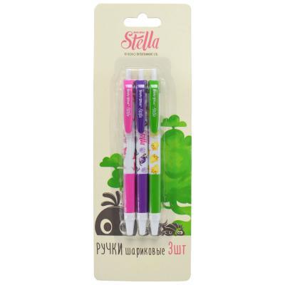 Набор шариковых ручек автоматическая Action! Stella 3 шт синий SA-ABP152/3 SA-ABP152/3 набор шариковых ручек автоматическая