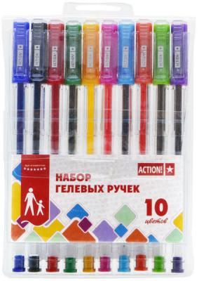 Набор гелевых ручек Action! AGP1001 10 шт разноцветный