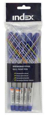 Набор шариковых ручек Index IBP318S/5 5 шт синий 0.7 мм