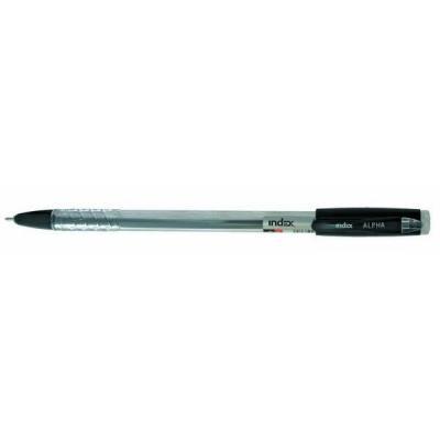 Фото - Шариковая ручка Index ALPHA синий 0.7 мм IBP305/BK IBP305/BK шариковая ручка автоматическая index imwt200 bk sl синий 0 7 мм