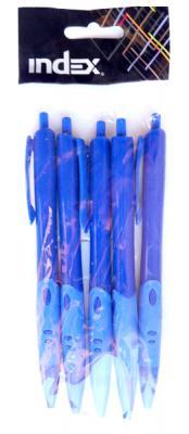 Набор шариковых ручек автоматическая Index IBP456/BU 5 шт 0.7 мм IBP456/BU