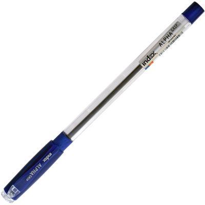 Шариковая ручка Index ALPHA GRIP синий 0.7 мм IBP306/BU