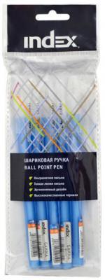 Набор шариковых ручек Index IBP319S/5 5 шт синий 1 мм набор шариковых ручек автоматическая