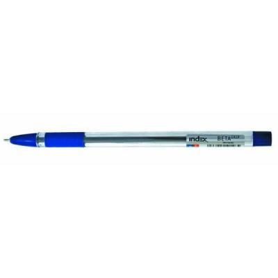 Шариковая ручка Index BETA GRIP синий 0.7 мм IBP348/BU