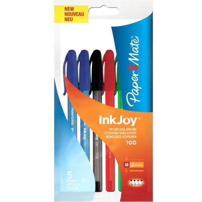 Набор шариковых ручек Paper Mate InkJoy 100 5 шт разноцветный 1 мм 1842139 1842139 seventh generation nat paper towels 120 cnt 120 count