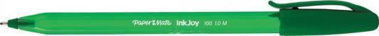 Шариковая ручка Paper Mate INKJOY 100 зеленый 1 мм PM-S0977350 0958131 ручка шариковая inkjoy 100 с колпачком фиолетовая пластик тонир корпус в цвет чернил 1мм pm s0977330