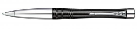 Шариковая ручка поворотная Parker URBAN PREMIUM Ebony Metal Chiselled синий хромированные детали М PARKER-S0911500