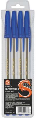 Набор шариковых ручек SPONSOR SBP050/4-1 4 шт синий 0.7 мм SBP050/4-1 цена