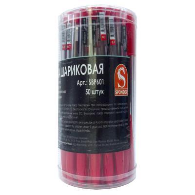 Шариковая ручка SPONSOR SBP601/RD красный 0.7 мм  SBP601/RD