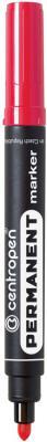Маркер перманентный Centropen 8566/К 2.5 мм красный 8566/К маркер флуоресцентный centropen 8722 1о оранжевый 8722 1о