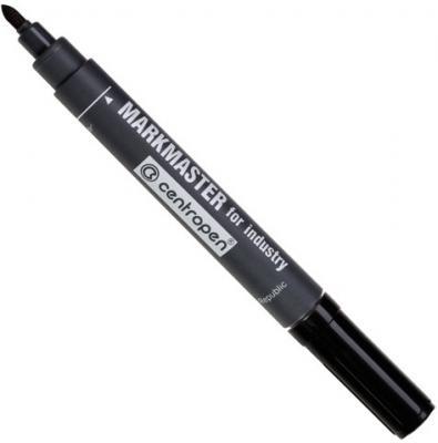Маркер перманентный Centropen Markmaster 1.5 мм черный 8599/1Ч маркер для доски centropen 8569 1ч 4 6 мм черный