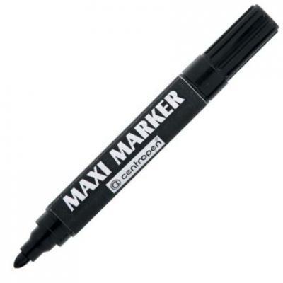 Маркер перманентный Centropen MAXI 4 мм черный 8936/1Ч маркер флуоресцентный centropen 8722 1о оранжевый 8722 1о