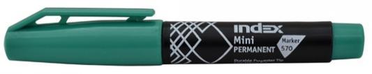 Маркер перманентный Index Мини IMP570/GN 4 мм зеленый маркер перманентный index imp575 gn зеленый imp575 gn