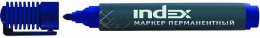 Маркер перманентный Index IMP555/BU 4 мм синий маркер перманентный index imp555 bu 4 мм синий