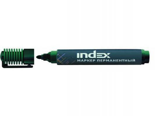 Маркер перманентный Index IMP555/GN 1 мм зеленый IMP555/GN маркер перманентный index imp555 bu 4 мм синий