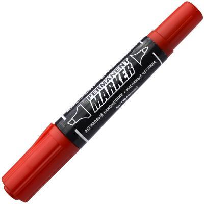 Маркер перманентный Index IMP100/RD 5 мм красный двусторонний