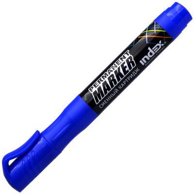 Маркер перманентный Index IMPR600/BU 2 мм синий IMPR600/BU маркер перманентный index imp555 bu 4 мм синий