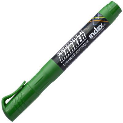 Маркер перманентный Index IMPR600/GN 2 мм зеленый IMPR600/GN маркер перманентный index imp575 gn зеленый imp575 gn