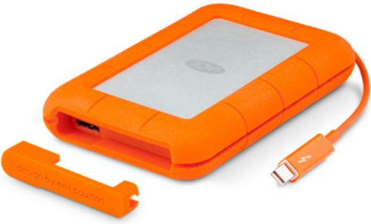 Внешний жесткий диск 2.5 USB3.0 2Tb Lacie Thunderbolt Rugged v2 STEV2000400 оранжевый
