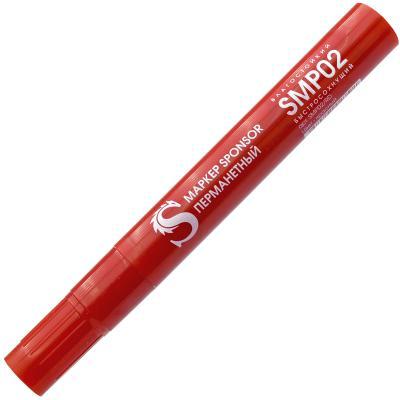 Маркер перманентный SPONSOR SMP02/RD 2 мм красный