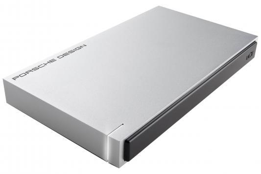 Внешний жесткий диск 2.5 USB3.0 1Tb Lacie Porsche Design STET1000400 серебристый внешний жесткий диск lacie stfd4000400 4тб porsche design stfd4000400