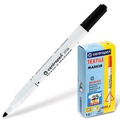 Фломастер Centropen 2739/1Ч 1,8 мм черный  2739/1Ч