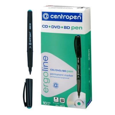 Маркер Centropen CD-PEN 1 мм зеленый 4606/1З 4606М маркер флуоресцентный centropen 8722 1о оранжевый 8722 1о