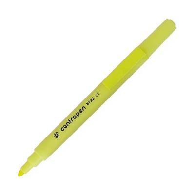Маркер флуоресцентный Centropen 8722/1Ж желтый  8722/1Ж
