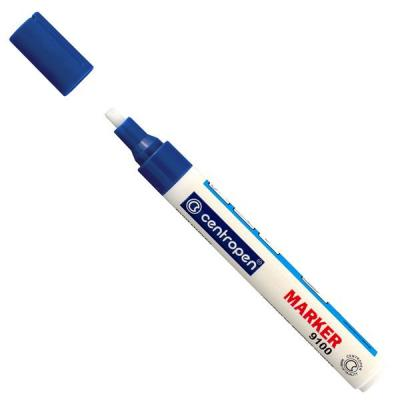 Маркер лаковый Centropen 9100/C 1 мм синий 9100/C маркер флуоресцентный centropen 8722 1о оранжевый 8722 1о