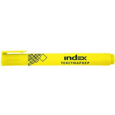 Текстмаркер Index IMH510/YL желтый